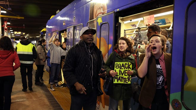 A protest that started at the Mall of America quickly migrated Wednesday, Dec. 23, to Minneapolis-St. Paul International Airport, where demonstrators blocked roads and caused significant traffic delays.