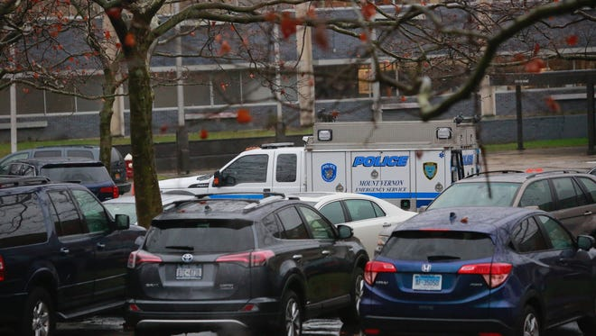 Police responded to Mount Vernon High School on Wednesday afternoon after a student was reportedly stabbed in the back.