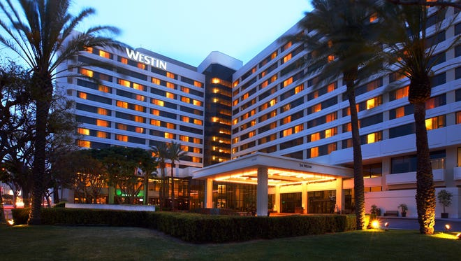 The Westin Los Angeles Airport was the most in demand hotel in LA on Expedia's list.