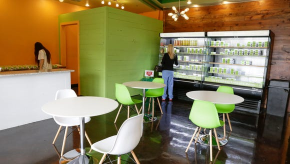 The shopping and dining area of Green Heart Meals in