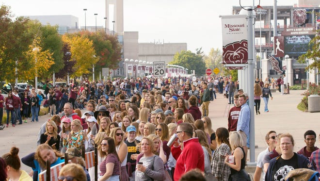 Missouri State University celebrates its 2016 Homecoming on the campus in Springfield.