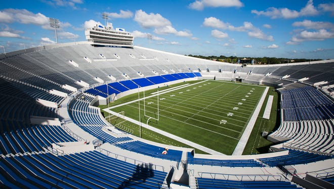 Liberty Bowl Memorial Stadium, home of the University of Memphis football team, could receive another series of improvements in 2018, this time to its locker rooms and other support areas.