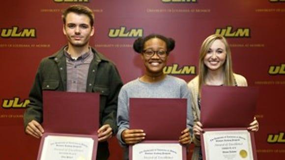 Photo: (From ULM) From left to right: Hebert, Ayika, Jackson