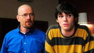 "Actors Bryan Cranston, left, and RJ Mitte, in a scene from AMC's ""Breaking Bad."" Mitte will be a guest of honor at the 2018 Las Cruces International Film Festival."
