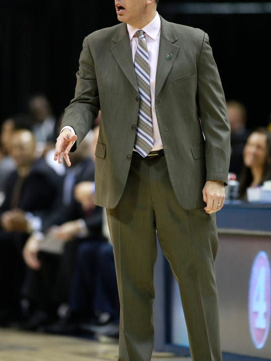 Indiana Pacers head coach reacts to an official's call in the first half of an NBA basketball game against the Atlanta Hawks in Indianapolis, Sunday, April 6, 2014. Atlanta won 107-88. (AP Photo/R Brent Smith)