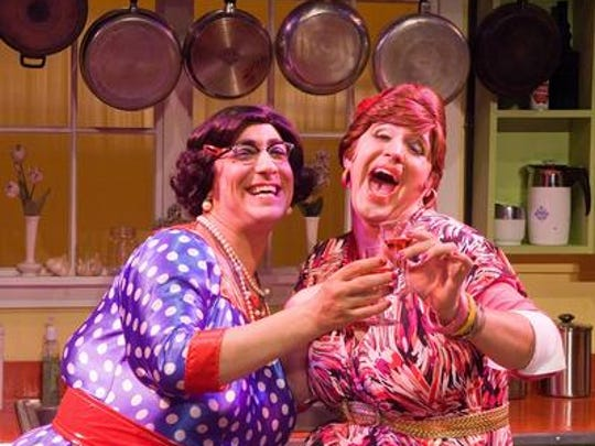 """Oy Vey, It's the Calamari Sisters!"" – a musical comedy in which Delphine and Carmela Calamari cater an event at a Jewish funeral home – has been extended through Nov. 8 at the JCC."