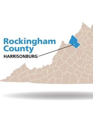 Rockingham County, Harrisonburg map.