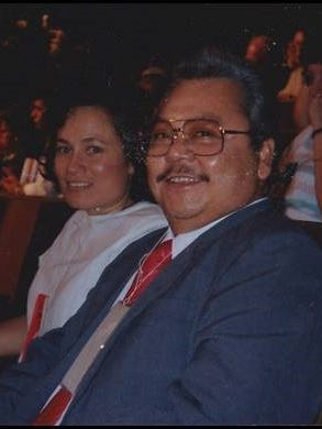 """American Samoa Aumua Amata is photographed with the late CNMI Gov. Pedro """"Teno"""" P. Tenorio during their younger years. Both attended University of Guam."""
