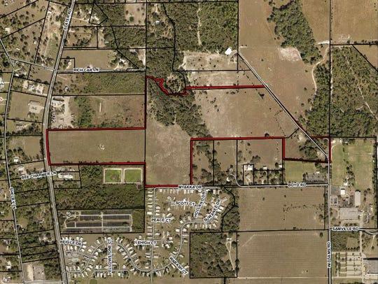 Gully Creek, a planned 330-unit development in rural