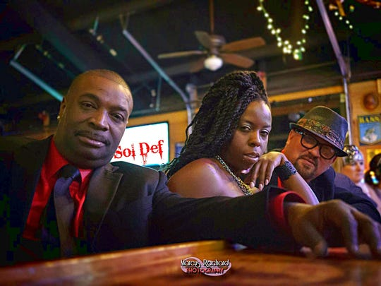 """The Sol Def Band will be playing Friday and Saturday night at Royal 66. The band plays ''70s, ''80s, """"old school,"""" pop, dance mix and more. The group features Carl Leslie, from left, on keyboards and vocals; Miki Gaynor on lead vocals; and Dale Wardlow on drums and vocals."""