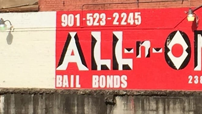 A selection of bail bonding companies occupy the part of Downtown north of the Criminal Justice Center