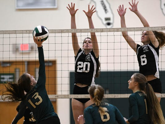 High School Volleyball: Melbourne Central Catholic at Melbourne