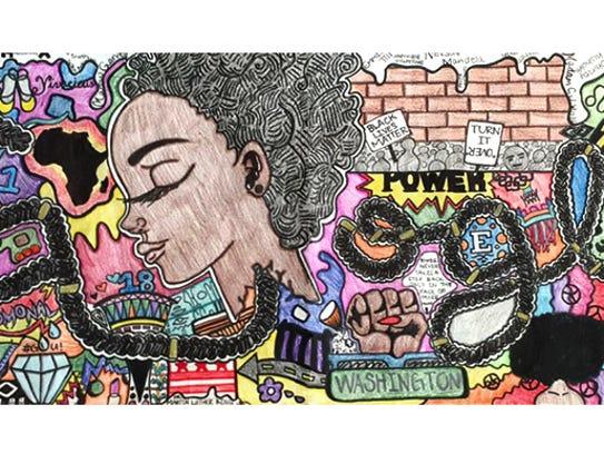 Akilah Johnson's winning  doodle celebrates her African-American