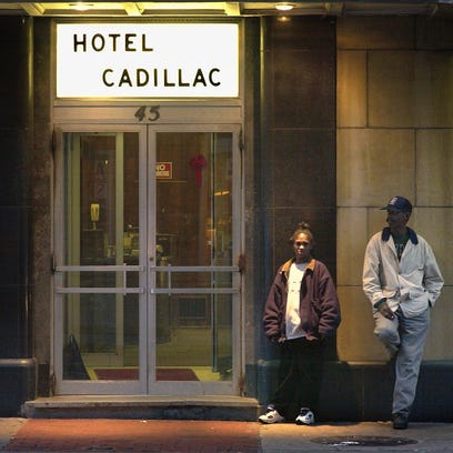 The Hotel Cadillac on Chestnut Street.