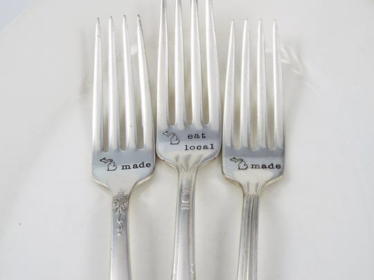 Michigan-themed forks, $16 each at Etsy.com.