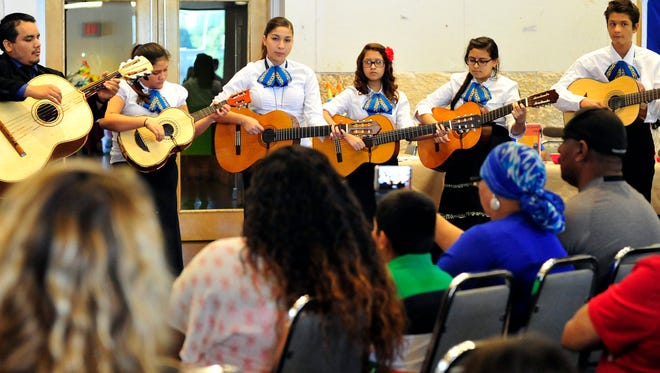 Lincoln Junior High School's Advanced Mariachi Band performs during SAMFA's Family Day Fiesta in 2015.