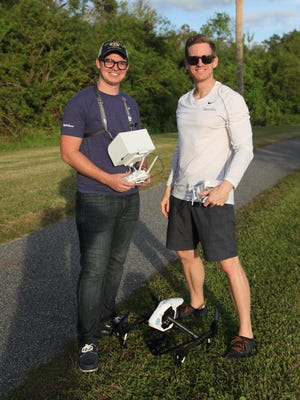 Garrett Hinton and Justin Snyder of Rockledge's iAerials Media are using technology to become a sought-after video production company.