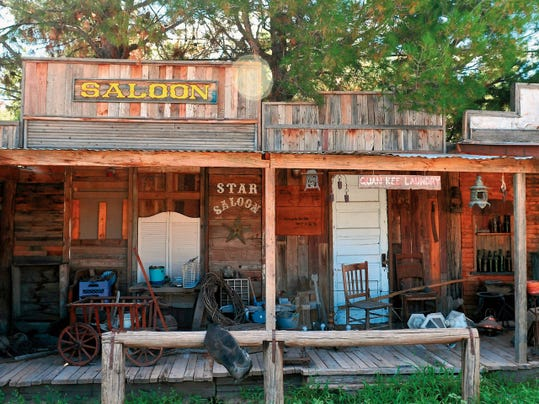"A saloon seems to await cowboys looking for a good time in the rustic town created by Joe Soebbing. He plans to offer ""upscale cowboy collectibles"" in his new store, Cowboy Joe's Antiques, slated for a mid-September opening on Picacho Avenue."