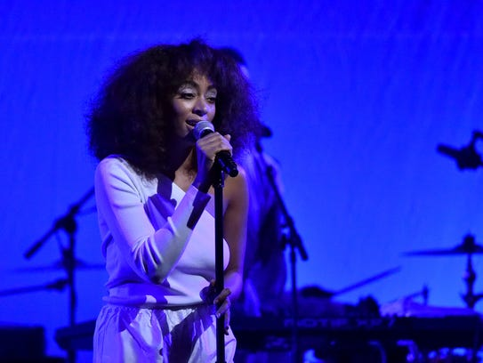 Solange is scheduled to perform at 8:50 p.m. Sunday.