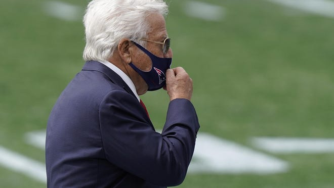 Florida solicitation charges against Patriots owner Robert Kraft, shown before the Patriots Sept. 13 game against Miami in Foxboro, will likely be dropped.
