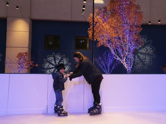 Taking to the ice-skating rink is part of the fun at