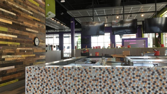 The interior of the new Mellow Mushroom in downtown
