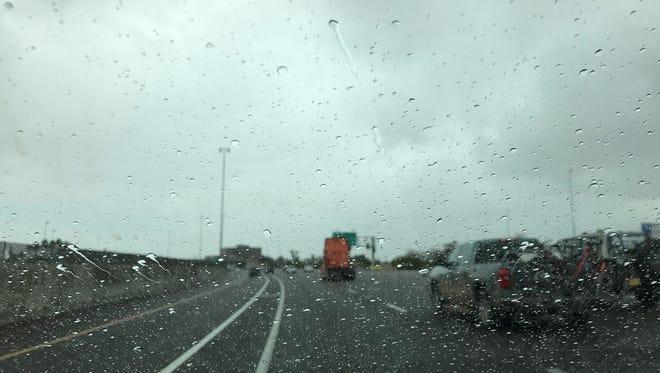 Rain soaks Valley highways on Feb. 19, 2017.