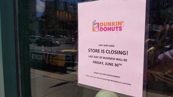 The Dunkin' Donuts location  inside Bankers Life Fieldhouse announced it will close June 30, 2017.