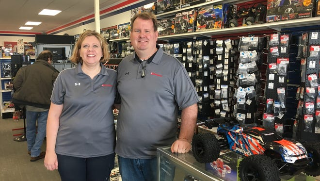 Becky and Andy Roever took over Hobbytown USA, 2795 S. Oneida St., on March 1. The Roevers succeed Tom Larson, who retired after running the franchise for 22 years.