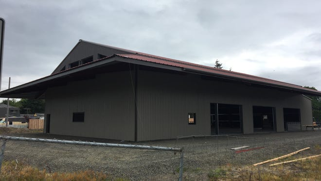 Construction of The Yard Food Park on State St. in Salem, Oregon, on May 18, 2018.