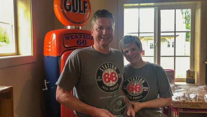 Curt and Janette Tramel first opened Station 66 in 2010. They received an award on  May 3 from Michigan Celebrates Small Business naming them one of 50 Michigan companies to watch.