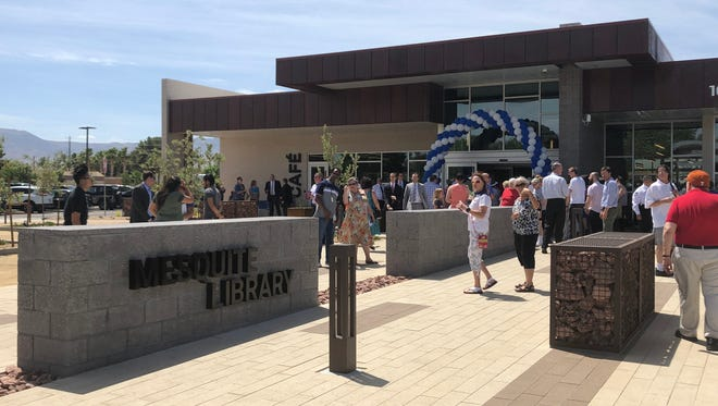 An outside look at the new Mesquite Library, located on 160 W. First North St. in Mesquite.