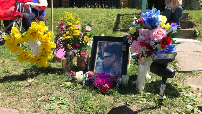 Friends and family gathered on Randolph Street on Thursday to remember Ricardo Ubinas Jr., 16, who died a day earlier after driving a dirt bike into the back of a parked car.