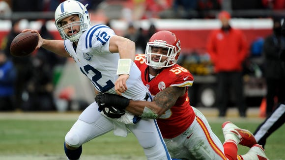 Derrick Johnson and the rest of the Kansas City Chiefs defense should make life difficult for Peyton Manning on Thursday night.