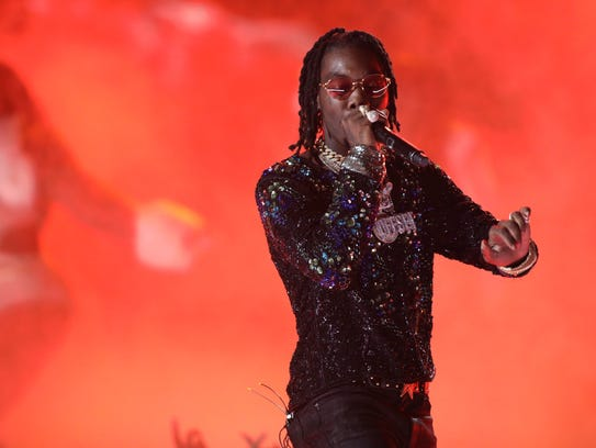 Offset, of Migos, performs at the BET Awards Sunday,