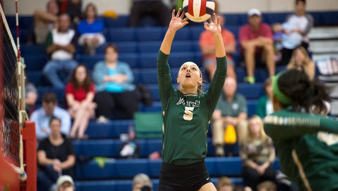 Callie Anderton and Briarcrest got a test from Harpeth Hall on Wednesday before advancing at the Division 2-AA state volleyball tournament.