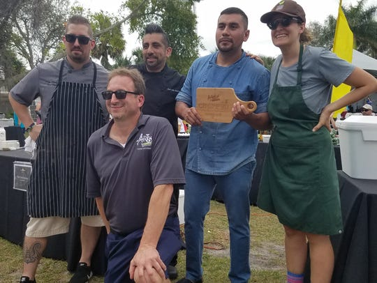 Four chefs took on the Stuart Chopped challenge during