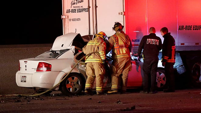 A Fond du Lac man was killed after plowing into a semi truck on Interstate 41 in Oshkosh Tuesday night.