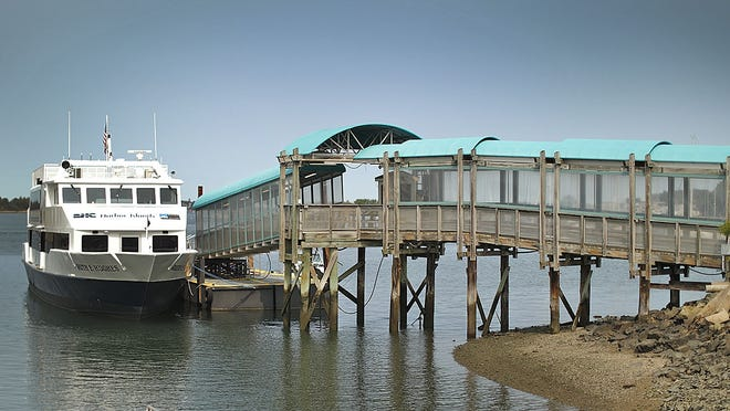 The MBTA is proposing to cut ferry service from the South Shore to Boston, including at this Hingham MBTA Commuter boat terminal and parking lot in Hingham, as seen on Tuesday September 15, 2020  Greg Derr/ The Patriot Ledger