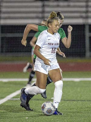 Brooklyn Harris, a senior forward and USC recruit who missed last season because of knee surgery, had 14 goals and 12 assists through nine games in leading the New Albany girls soccer team to a 7-1-1 start.