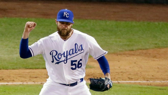 McDowell graduate Greg Holland and the Kansas City Royals lead the American League Championship Series, 3-0.