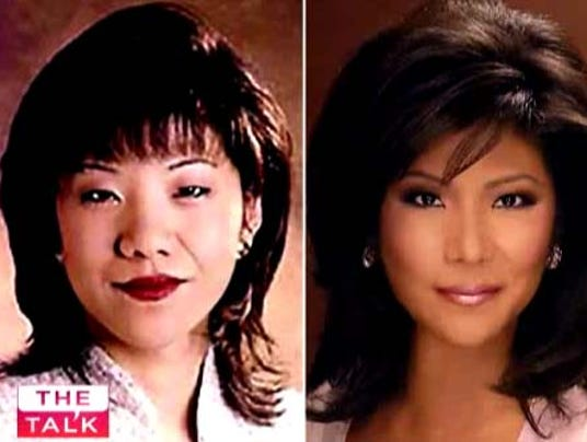 Meet  Julie Chen The woman that had plastic surgery to make her  eyes 'b