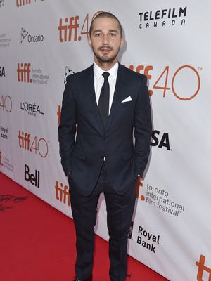 Shia LaBeouf attends the 'Man Down' premiere during the Toronto International Film Festival on Sept. 15.