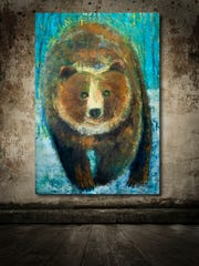 Mark Bettis, who creates in oil and cold wax, opens an exhibition of animal paintings at his Roberts Street studio on Oct. 28.