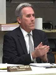 William Bailey, who was appointed to be Dumont borough attorney, at the Borough Council's annual organization meeting on Jan. 3, 2018.