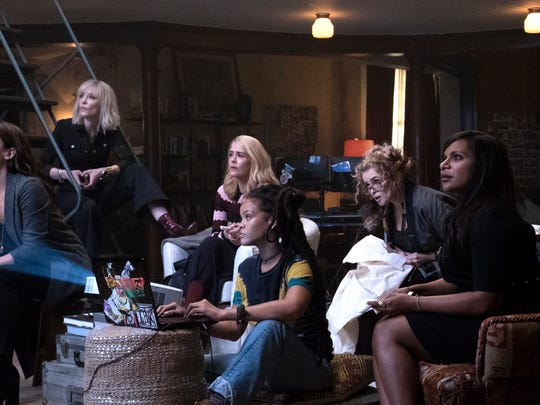 "Sandra Bullock leads an all-star cast in ""Ocean's 8."""
