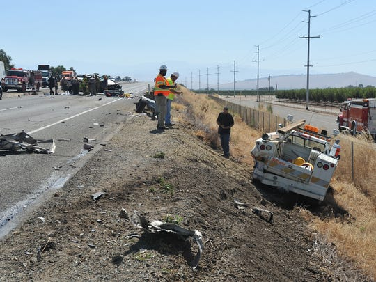 A man was killed Friday in an eastbound Highway 198 traffic accident near Exeter.
