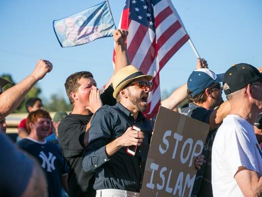 Anti-islam protest in may in phoenix
