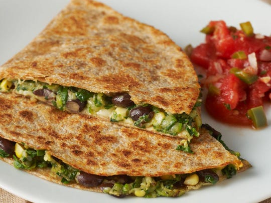 BlackBeanandVegetableQuesadillas
