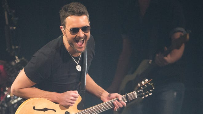 Eric Church performs at Bankers Life Fieldhouse, Indianapolis, Thursday, February 23, 2017.